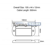 LED Autolamps 44 Series Trailer Marker Light Dimensions