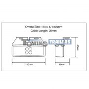 LED Trailer light dimensions 1491 series LED Autolamps
