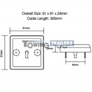 LED Autolamps 81 Series Trailer Light Dimensions