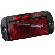 LED Autolamps 44RME Red Rear Low Profile Trailer Marker Light