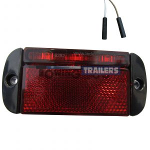 LED Autolamps Red Rear Low Profile Harness Trailer Marker Light
