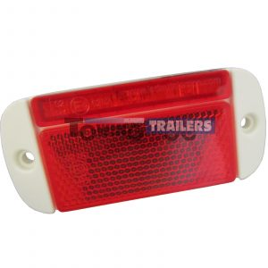 LED Autolamps 44WRME Rear Low Profile Marker Light White Surround
