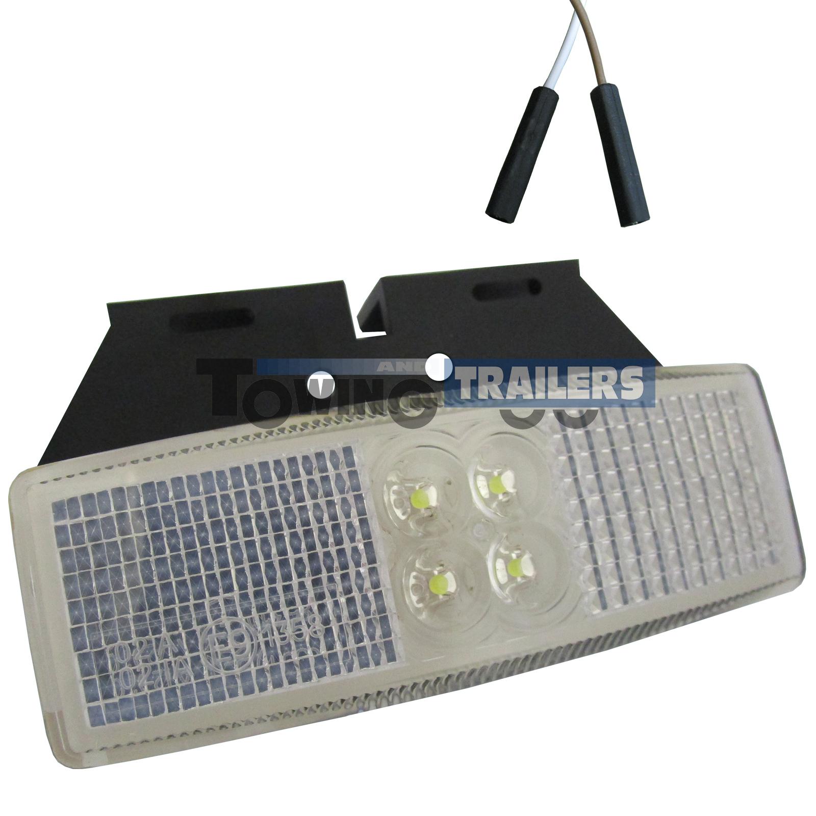 LED Autolamps White Trailer Bracket Mount Harness Marker Light
