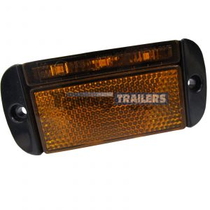 LED Autolamps 44AME Amber Side Low Profile Trailer Marker Light