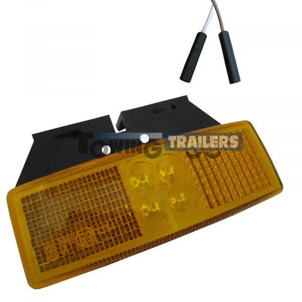 LED Autolamps Amber Bracket Mount Harness Marker Light