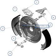Knott trailer brake exploded diagram