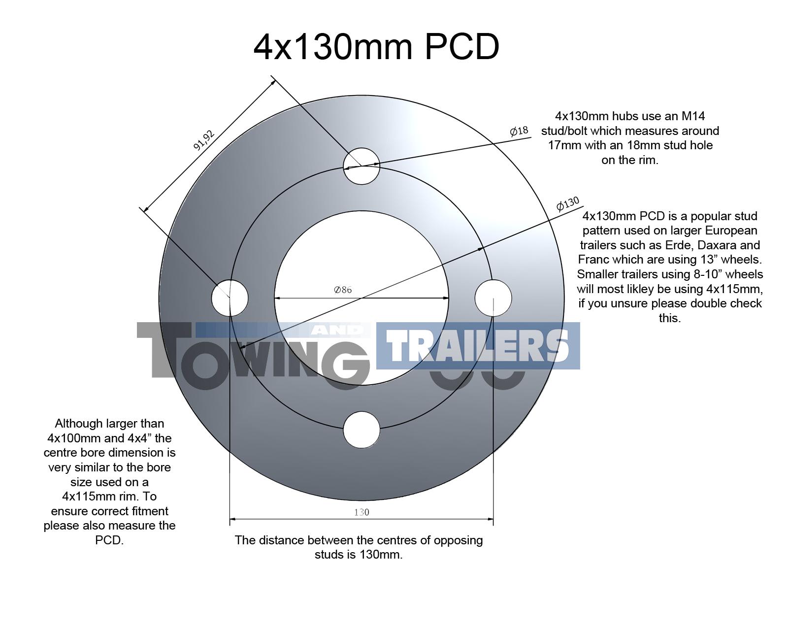 4x130mm PCD