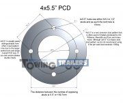 "4 stud x 5.5"" (139.7mm) PCD measurements"