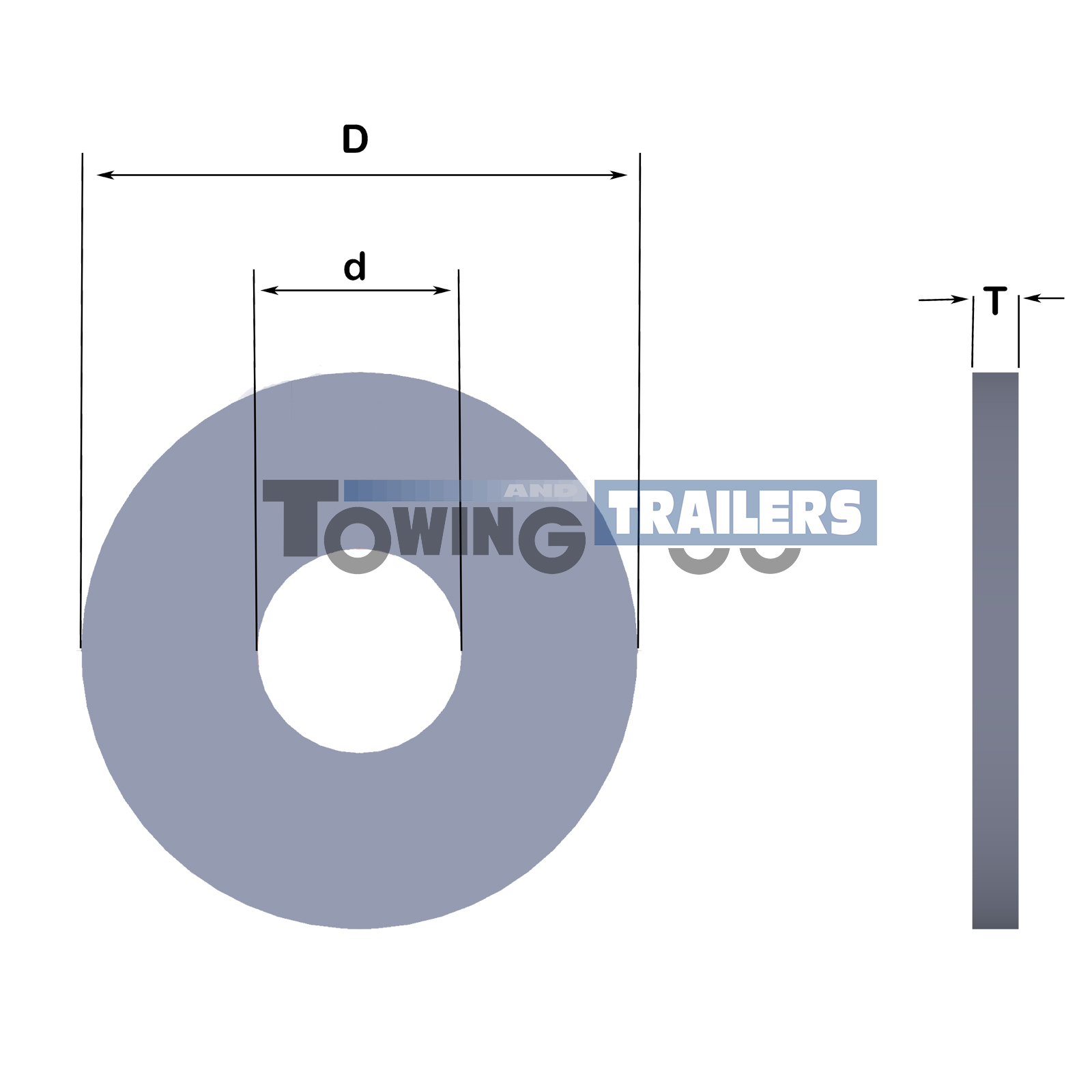 M10 Form G Washer Dimensions