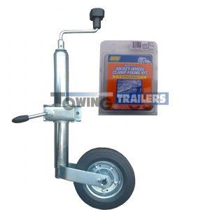 Knott 48mm Trailer Jockey Wheel Kit Clamp EasyFit Bracket