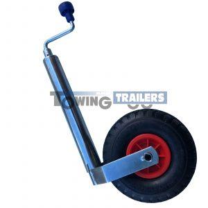 Maypole 48mm Trailer Jockey Wheel Pneumatic 260x64mm Wheel