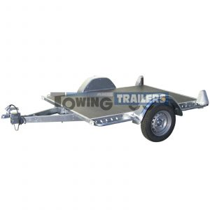 Trigano 750kg Multy Tilting Flatbed Trailer Wooden Base
