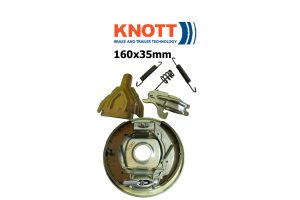 160x35mm Knott Avonride Trailer Brakes and Parts