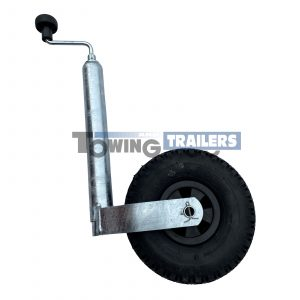 Winterhoff 48mm Pneumatic Caravan Trailer Jockey Wheel
