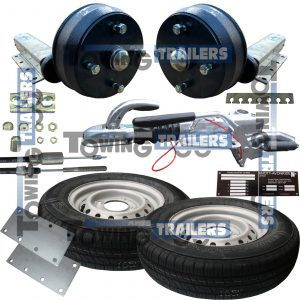1100kg Braked Single Axle Trailer Kit Pressed Coupling VIN Plate