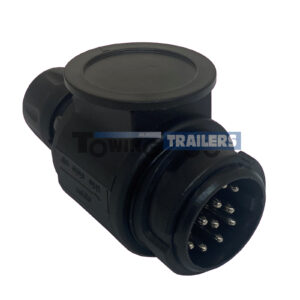 Twin Cable Conversion Plug - 13 Pin Trailer Plug 2x Cable Grommet