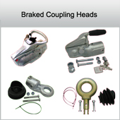 Braked coupling heads