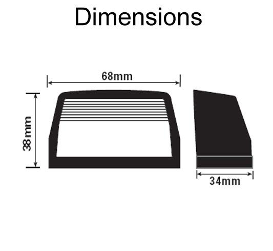 small britax numberplate light