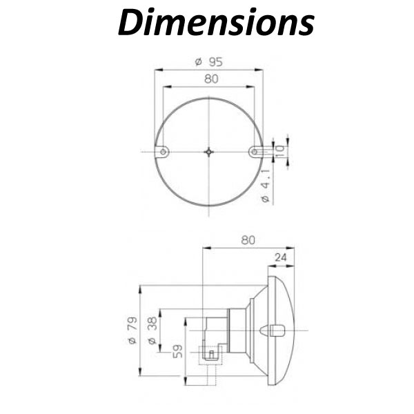 Jokon Circular Light Dimensions