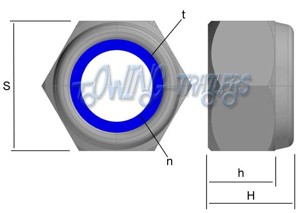 Nyloc Nut Dimensions